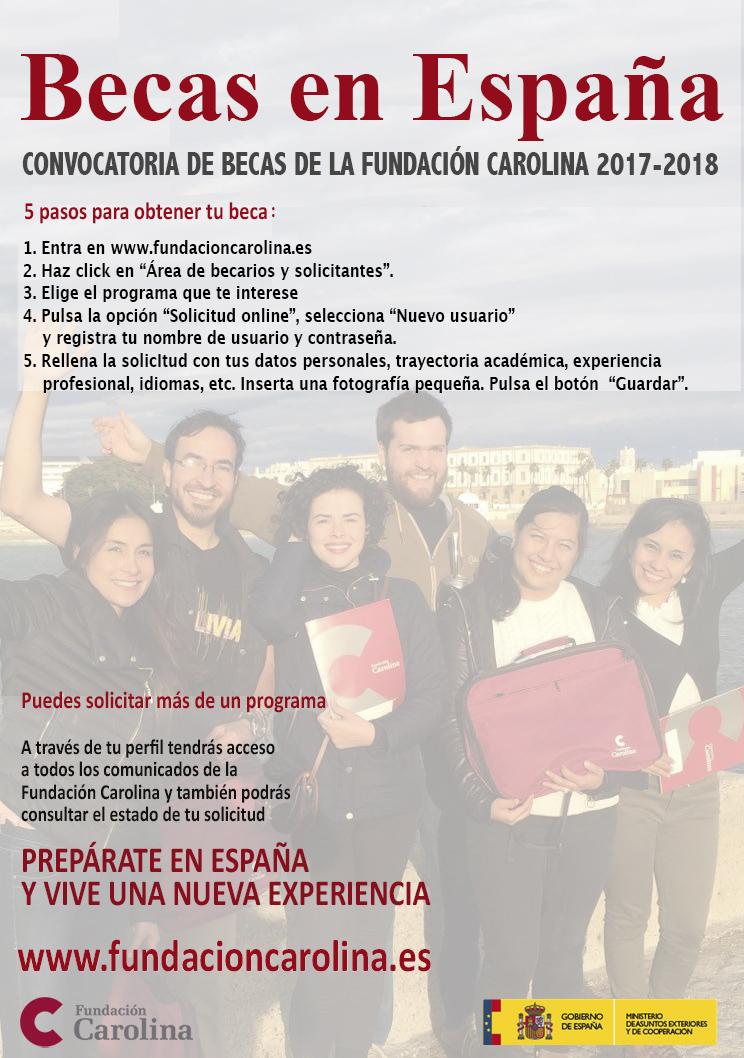 Abierta la convocatoria de becas de posgrado de la FundaciónCarolina