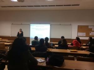 Dña. Helena García imparte una conferencia sobre Ecotoxicología