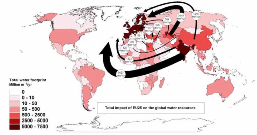 Consumo de agua en Europa