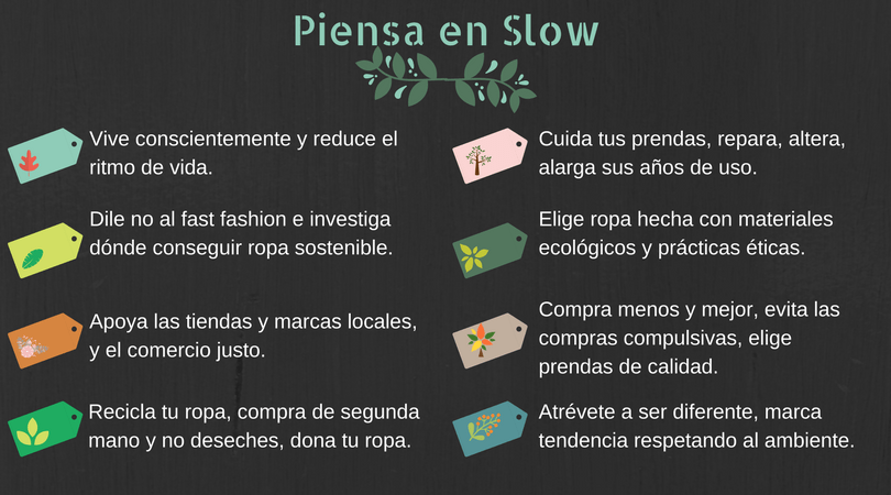 Moda lenta o Slow fashion