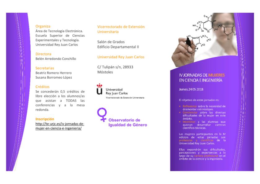 2018 Jornada Mujer en Ciencia