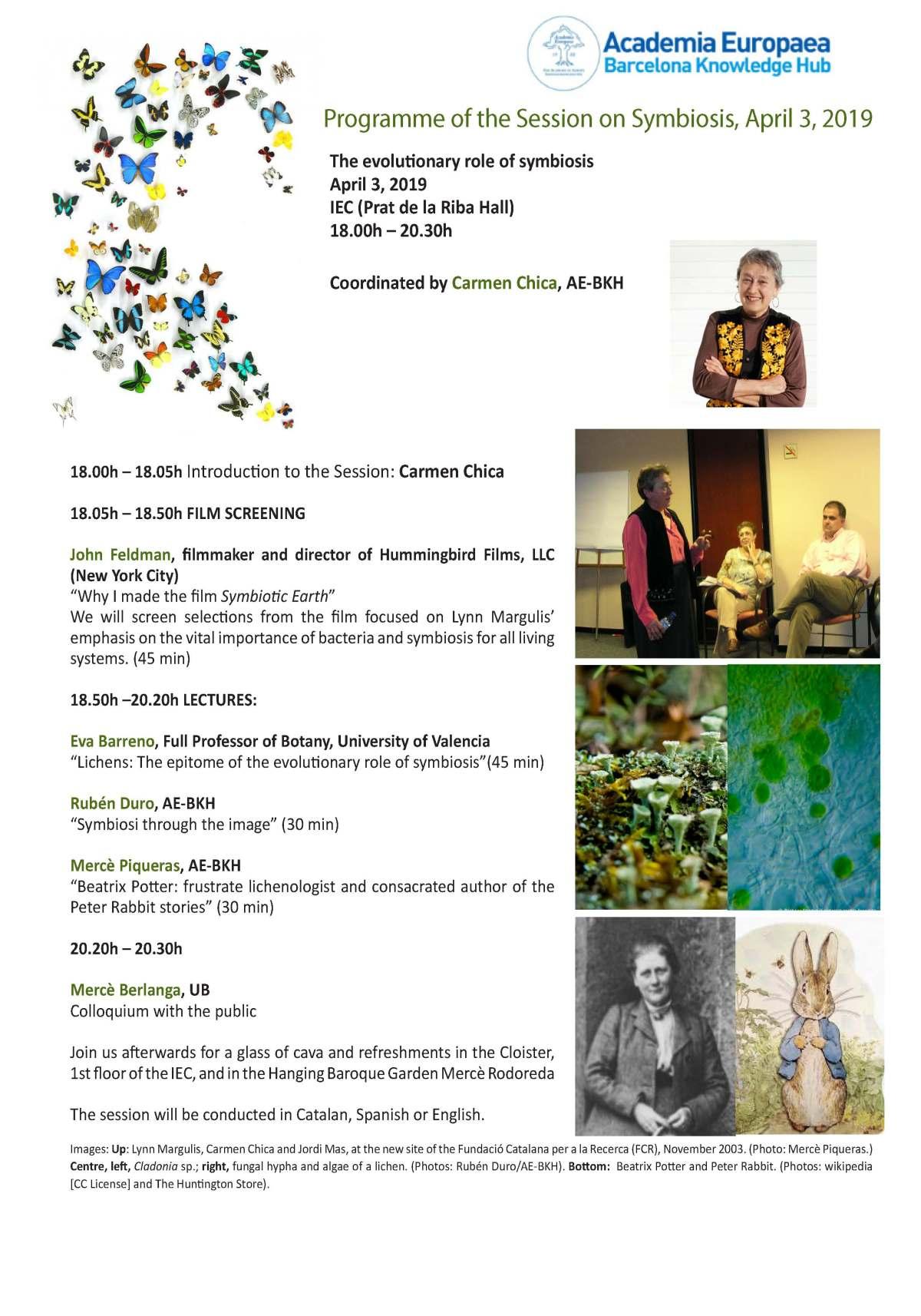 Sesión sobre Simbiosis en la Academia Europaea (Barcelonal KnowledgeHub)