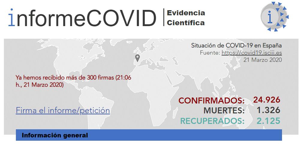 Comentario científico –informeCOVID